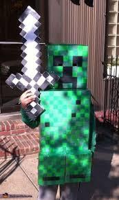 Halloween Minecraft Costume Diy Minecraft Steve U0026 Creeper Halloween Costumes