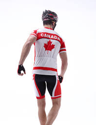 red cycling jacket custom short sleeve canada cycling clothing national team jerseys