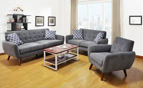 Grey Sofa And Loveseat Set Mid Century Modern Gray Sofa U0026 Loveseat Living Room Set Orange