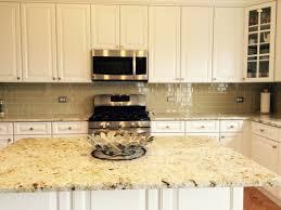 Kitchen Tile Designs For Backsplash Kitchen White Glass Tile Backsplash Countertop With Dark Wood