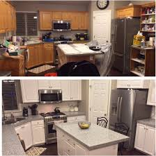 Old Wooden Kitchen Cabinets Painting Painting Oak Cabinets White For Beauty Kitchen Cabinets