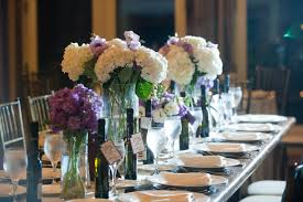 romantic winery wedding outdoor wedding venues ivory centerpieces