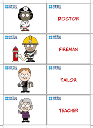 ورقة عمل لغة انجليزية صف رابع Match jobs