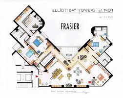 Floor Planners by Frasier U0027s Apartment Floorplan V2 By Nikneuk On Deviantart