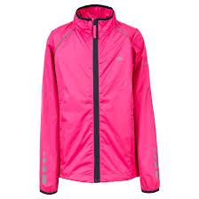 reflective bike jacket trespass paceline kids waterproof coat boys girls reflective