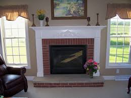 home decor brick fireplace white mantle furniture designs