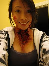 neck horror wound makeup by samoyed16 on deviantart halloween