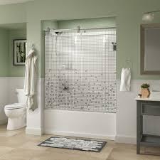 shower stall glass doors frameless shower doors showers the home depot