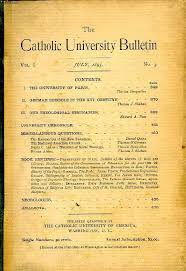 THE CATHOLIC UNIVERSITY BULLETIN                VOLUMES The Catholic University of America Press        RO             volumes  Ann  e      manquante  viaLibri