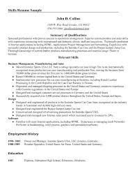 Job Summary Examples For Resumes  examples of resume professional