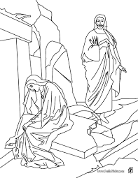 resurrection of jesus christ coloring pages hellokids com