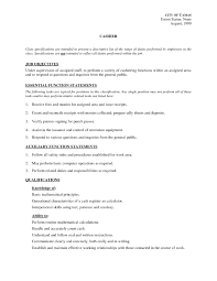 Resume Samples Grocery Store by Responsibilities Of Cashier For Resume Resume For Your Job