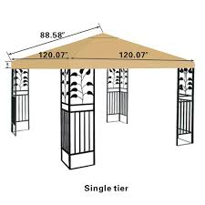 Replacement Canopy Covers by Amazon Com Strong Camel Replacement 10 U0027x10 U0027gazebo Canopy Top