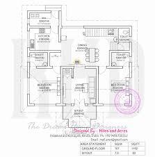 house plan of single floor house kerala home design and 1 floor