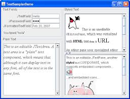 how to use editor panes and text panes the java tutorials