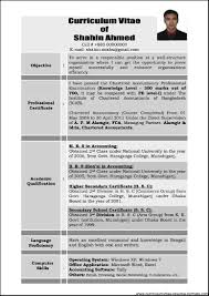 Format Of Resumes Format Of Resume For Experienced