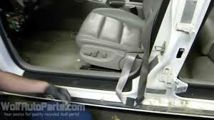 how to remove the front seat b6 b7 audi a4 2002 2008 wolf auto