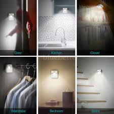 kitchen night light dodocool battery operated motion led night light auto on off uv
