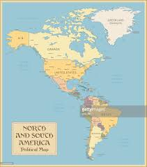 Political Map Of Latin America by Vintage Map Of North And South America Vector Art Getty Images
