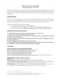 Resume Examples Example For Thesis Statement In Research Papers