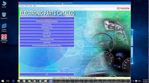 Toyota Epc Parts Catalog Youtube