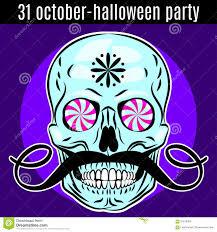 free halloween invite templates skull halloween party invitation flyer stock vector image 59502430