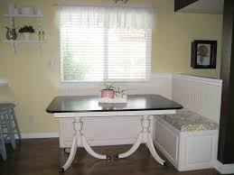 L Shaped Bench Kitchen Table by Vintage Style Breakfast Nooks With Ikea Double Pedestal Dining