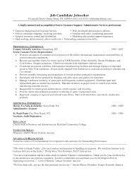 Customer Service Example Resume  resume template resume template     happytom co