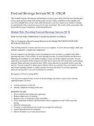 Food And Beverage Supervisor Job Description Provide Food And Beverage Service Tableware Waiting Staff