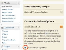 Change Customise Thesis     Theme Footer Appearance in WordPress thesis custom stylesheet