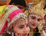 Radha-Krishna folk artists from Mathura (Uttar Pradesh) at the Surajkund ... - 84536-radha-krishna-folk-artists-from-mathura-uttar-pradesh-at-the-sur