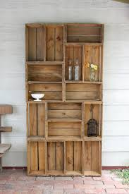 Wooden Crate Bookshelf Diy by How To Make Shelves Out Of Fruit Crates Crates Apple Crates