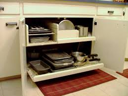 Kitchen Cabinets With Pull Out Shelves organizer pots and pans organizer for accommodate different sizes