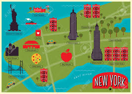 Central Park New York Map by City Map Of New York City United States Royalty Free Cliparts