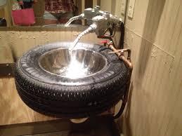 sink for garage bathroom i u0027d put diamond plate behind it for a