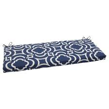 outdoor bench cushion blue white geometric target