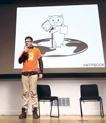 The Bitcoin Boy     Year Old Erik Finman Is in His Silicon Valley     New York Magazine Erik at Stanford last winter  pitching his start up Botangle  Photo  null Courtesy of Erik Finman