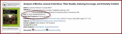 DOI example from a journal article