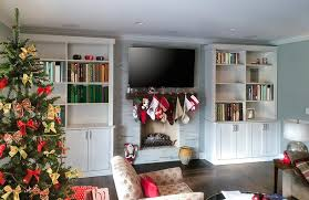 Wall Unit Fireplace Surround With Bookshelves For Family Room - Family room wall units