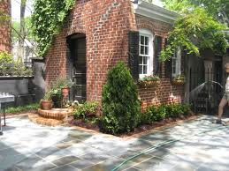 Outdoor Wall Planters by Brick Patio Landscaping Ideas Outdoor Brick Fireplace Patio In