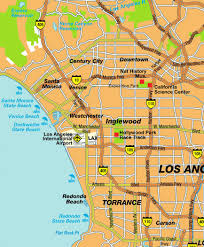 Los Angeles County Map by Map Of Greater Los Angeles Ca And South La County Area
