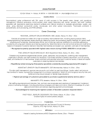 Resume Samples For Jewelry Sales     BNZK