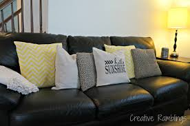cheap decorative pillows for sofa easy updated throw pillows creative ramblings