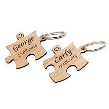 x Personalised Wooden Jigsaw Puzzle Piece Keyrings Each Engraved     Previous  middot    Next