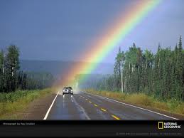 image of a rainbow from afar