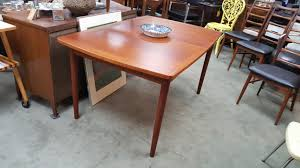 Teak Dining Room Set Small Scale Danish Modern Teak Dining Table With 1 Leaf By Randers