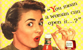 Woman in 1950's ad