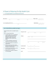 Medical Power Of Attorney Forms by Missouri Minor Child Power Of Attorney Form Free Home Health Care