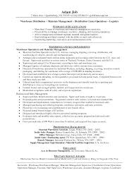 Sample Resume Objectives Warehouse Worker by Job Description For Warehouse Worker Resume Free Resume Example