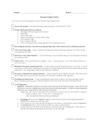 Research Paper Description Rubric
